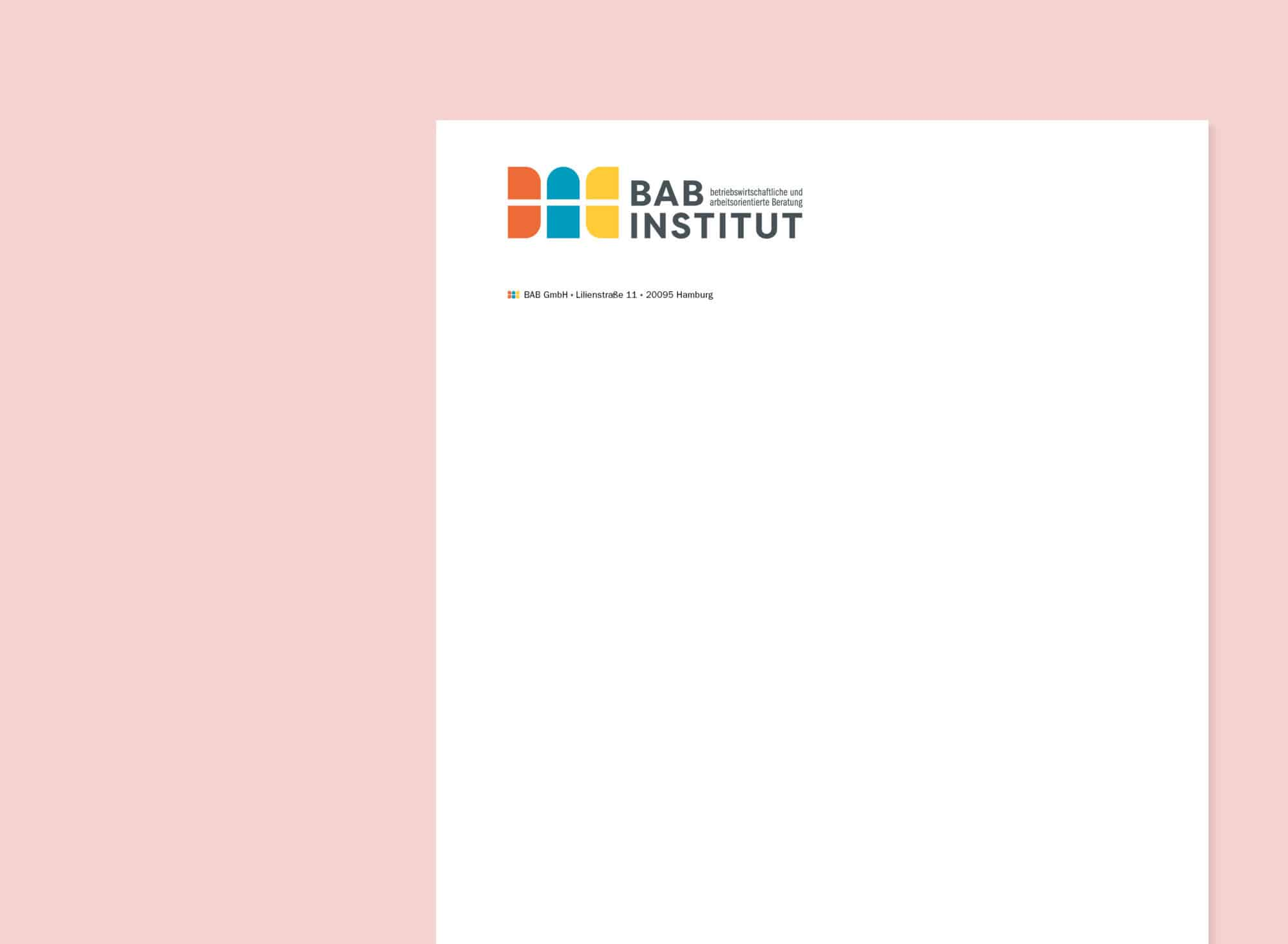 Corporate Design Portfolio BAB Institut Rubbeldiekatz