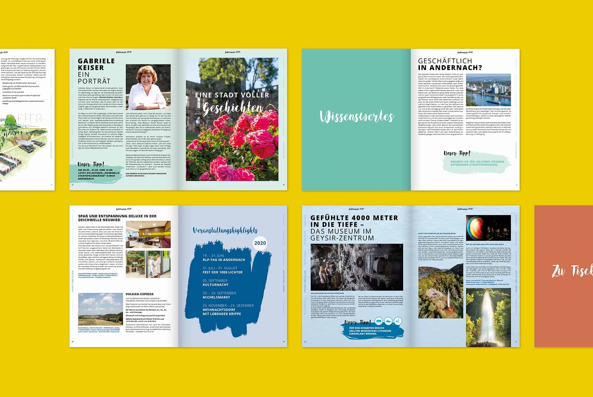 Andernach Gästemagazin Editorial Design